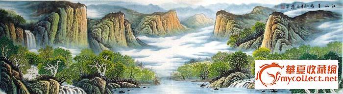 六尺长幅国画山水-江山星秀