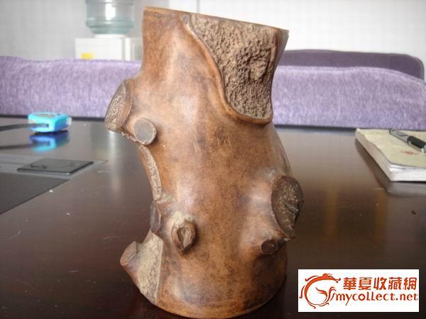 清代中晚期树根型挂式笔筒