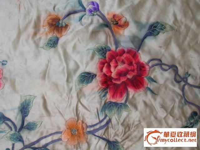 老的花卉刺绣