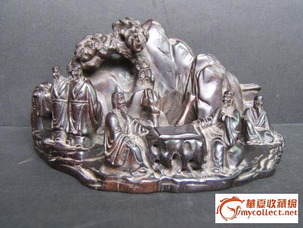 清代早期小叶紫檀山子图片