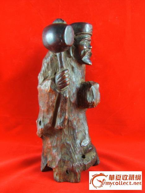 清代香木雕人物