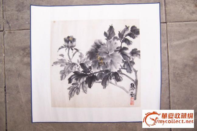 书画社收购来全绫旧装裱好的三幅旧书画一起卖 有一定年