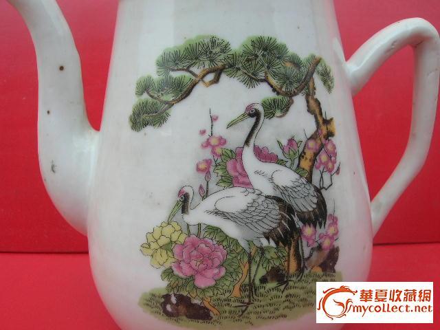 民国------松树仙鹤茶壶