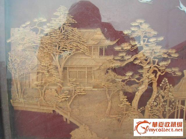 五六十年代-----木雕山水画