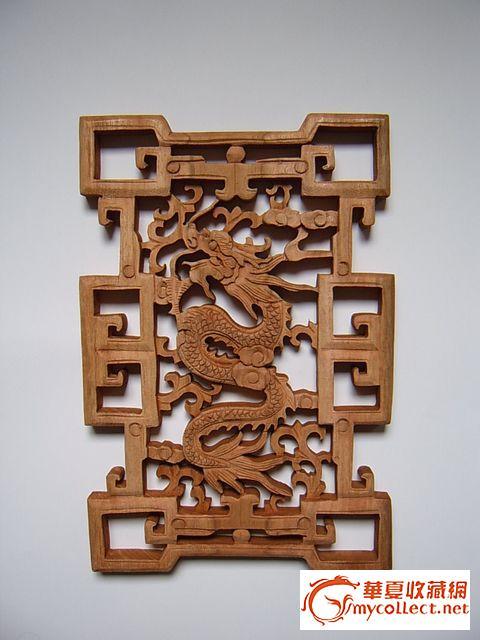 【当代东阳木雕精品】樟木凤凰起舞花窗