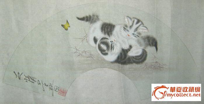 黄呈晋---工笔动物扇面三张整卖-图2;