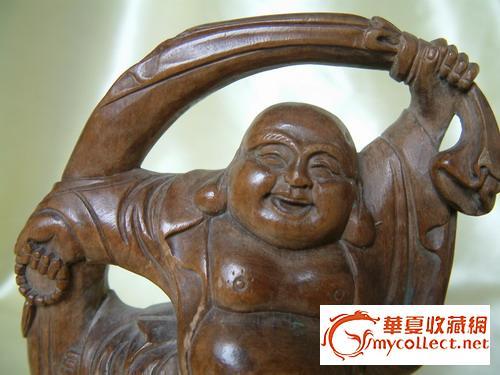 黄杨木雕布袋和尚
