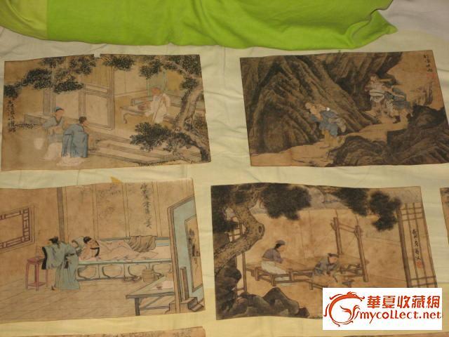年代: 中华民国 交易品介绍    24孝不全,只剩18张,出自古代乡间画师图片