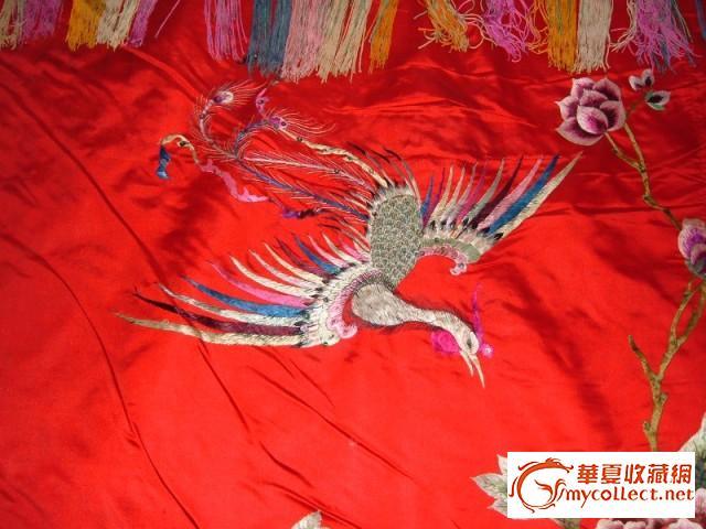 凤凰戏牡丹刺绣