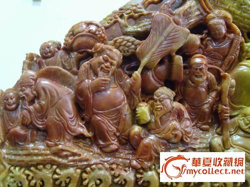 八仙过海寿山石雕