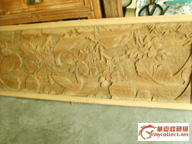 木雕花鸟板