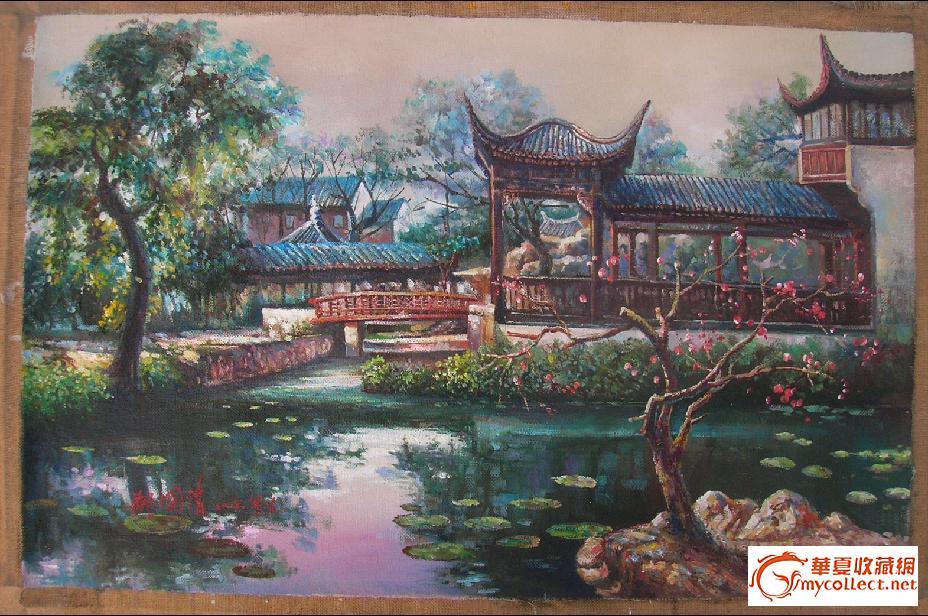 园林● 美院风格 油画写生作品