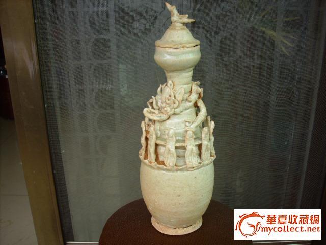 地摊 陶瓷 其它 盘龙捏塑人物瓶  编号 jy243152 上传
