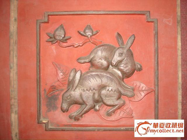 木板雕刻动物画
