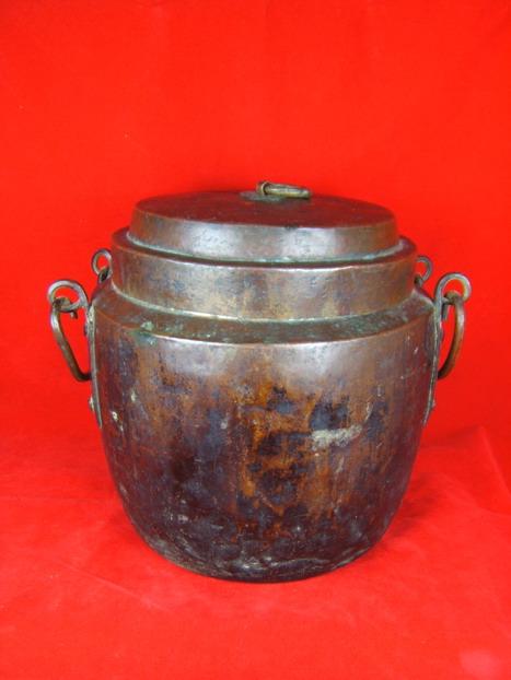 明代紫铜手工制作茶叶罐