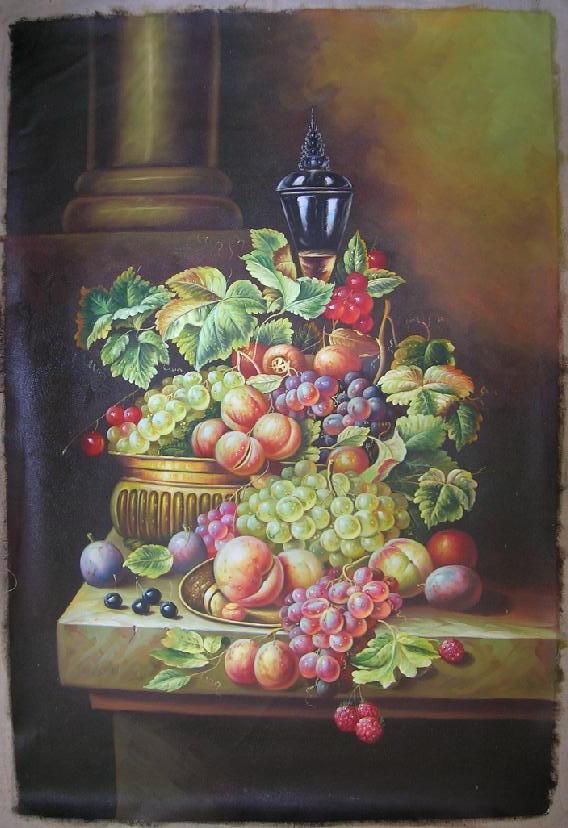 水果静物 油画
