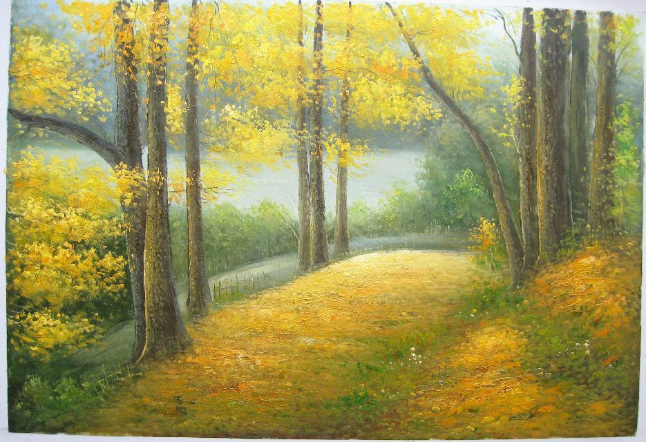 壁纸 风景 森林 油画 桌面 935_640
