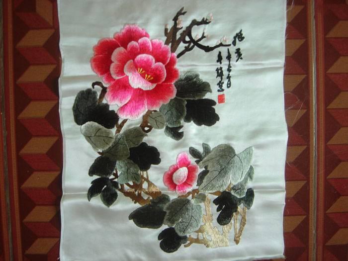 刺绣 荷花图片