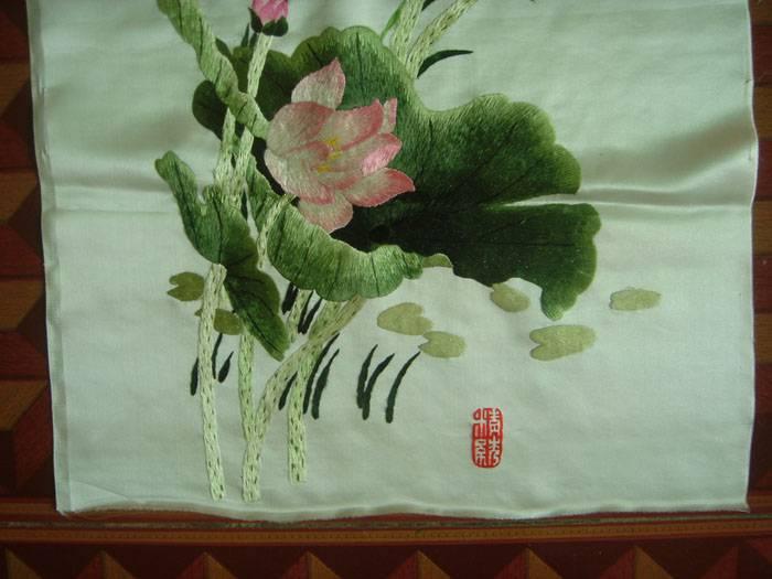 刺绣-荷花