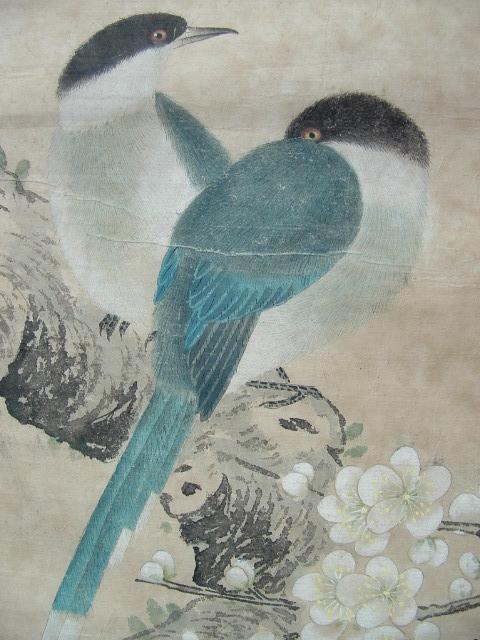 ◢焱煌轩◣著名工笔画家于非暗寒梅双鸟图画芯