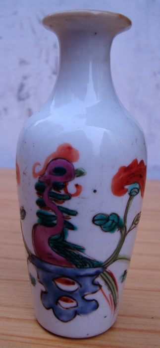 民国粉彩柳叶瓶图片