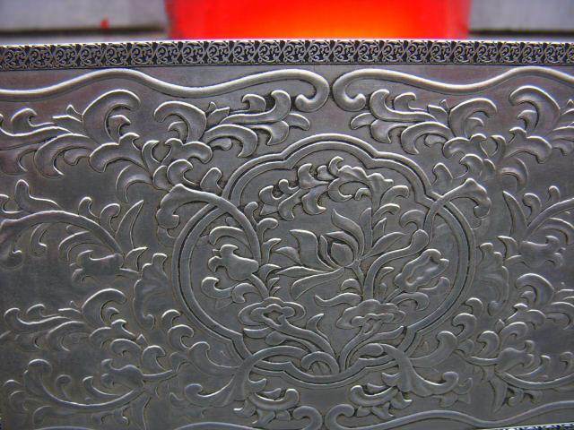 精美铜鎏银八仙过海浮雕插屏