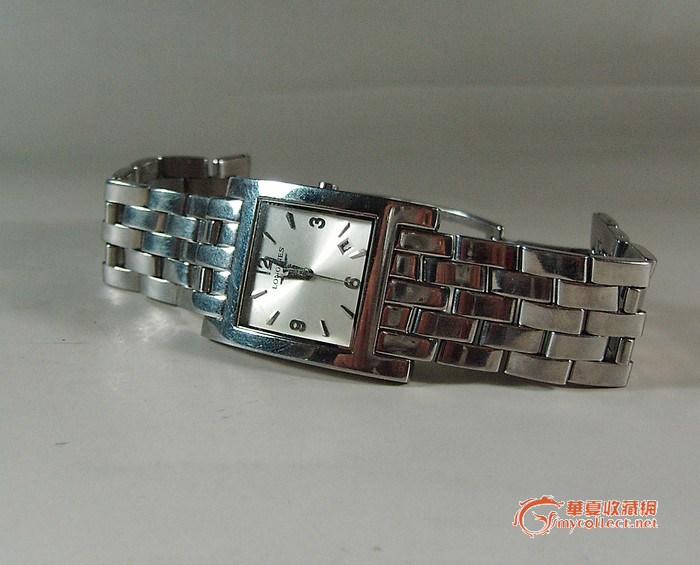浪琴手表  全品(有使用痕迹)表带表壳都是全钢的