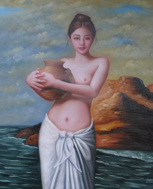 最新美少女系列油画