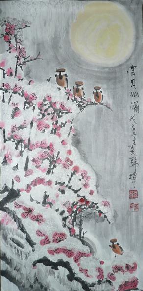 著名画家韩美林新作五牛图作品(附鉴定证书)