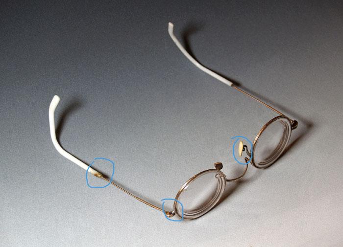 金丝边老眼镜(近视镜)