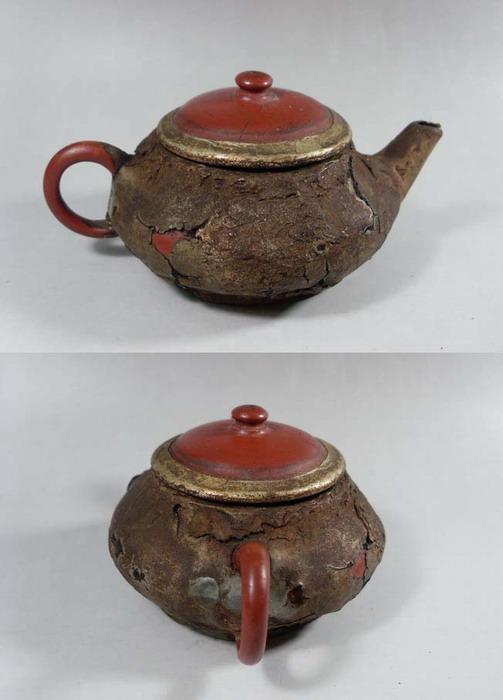大清乾隆年款老茶壶图片