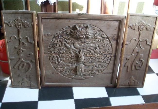 木雕中堂[三件]