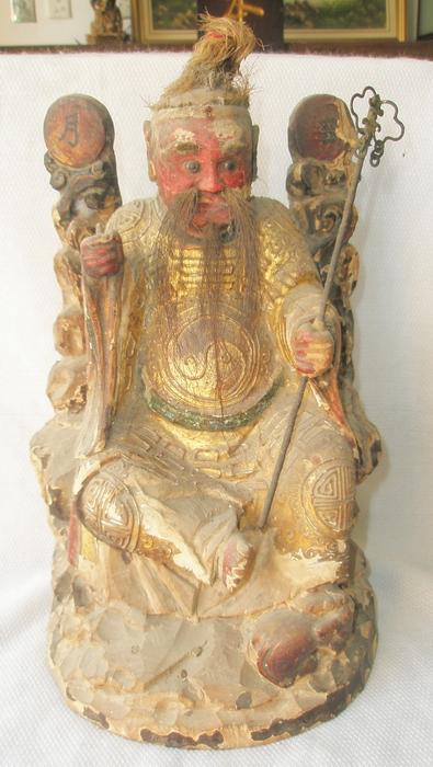 清.木雕佛像张天师 【包老】