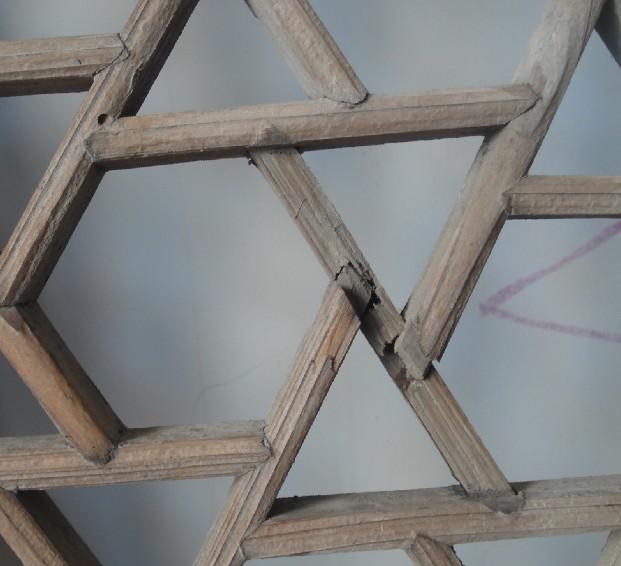 一对苏工杉木格子窗