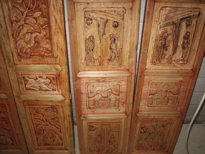 3组退漆木板