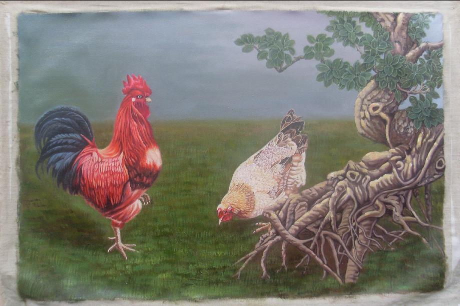 写实手绘风鸡