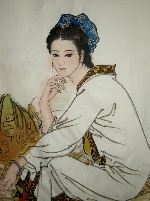 【真迹】中国工笔画研究协会会员欣云工笔仕女图