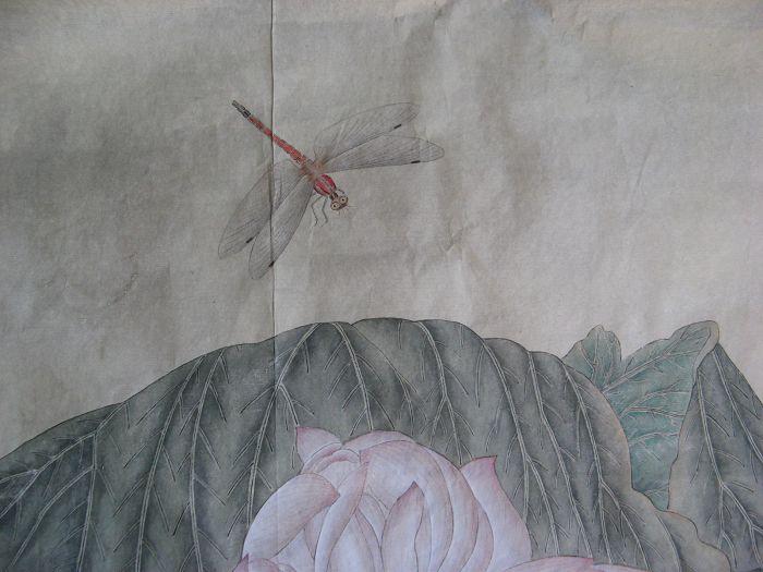 国画-荷叶蜻蜓