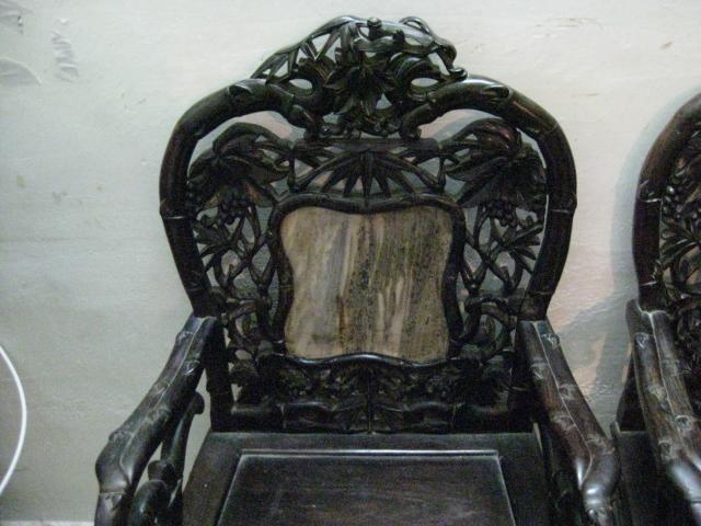 木雕红木椅子四把一套