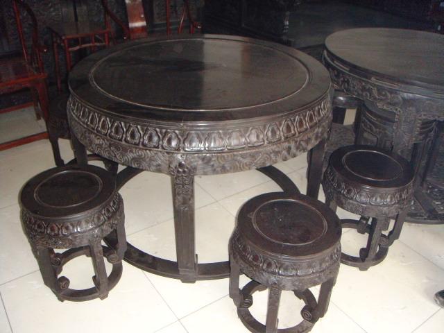 大圆桌三套·黑檀木的·喜欢那套谈哪套