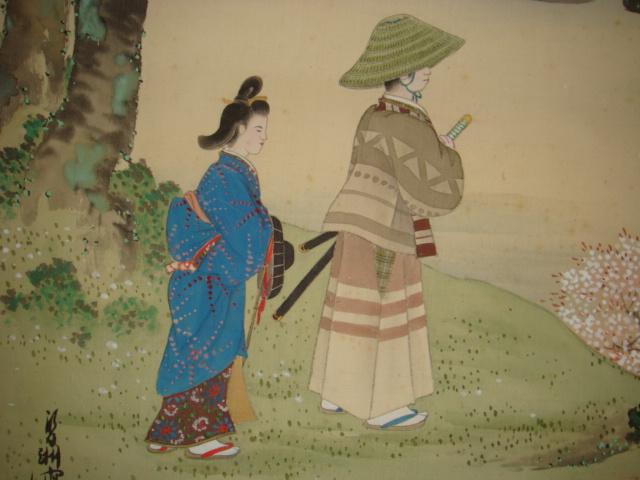 日本 樱花人物画