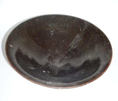 *耀州窑黑釉盏 直径14.5 高4.5