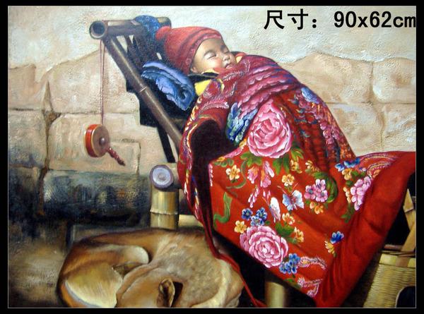油画专场 ---穷山沟裏的娃娃