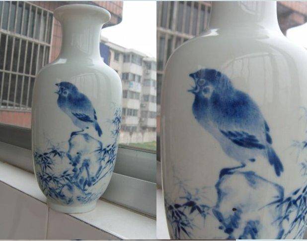 民国青花瓶子