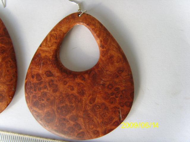 老挝纯花梨木树瘤木耳坠