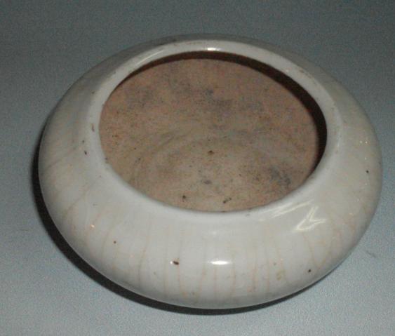 清代 白瓷水盂 直径10  高3.8