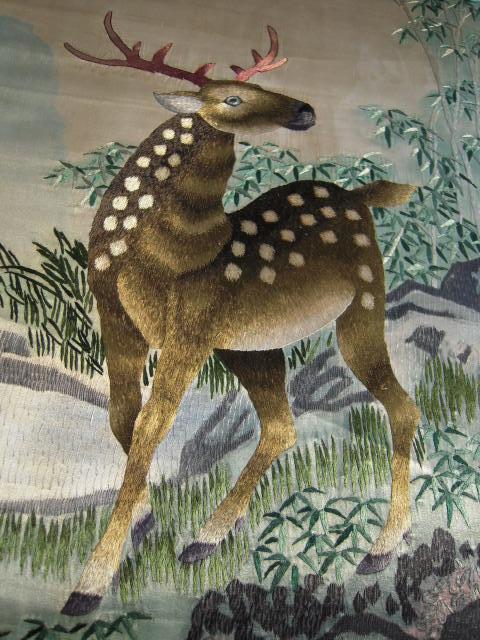 刺绣---梅花鹿