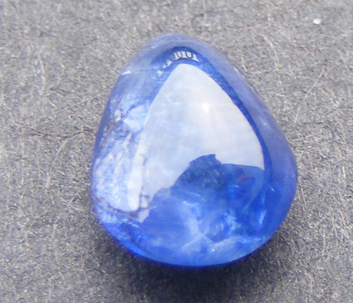 老深蓝碧玺宝石水滴形小宝石一件(清代老镶嵌宝石  值得收藏)