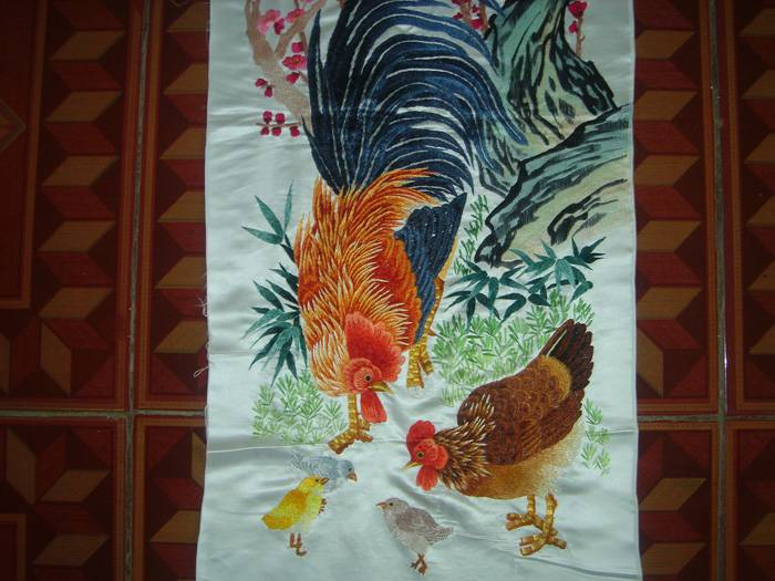 织锦刺绣收藏精品 动物四条屏