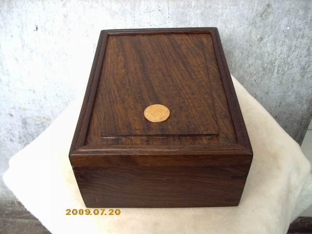 便宜!珍贵的黑檀木抽拉式小木盒(首饰盒)!超低特价!